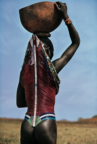 Dinka Woman Wearing Corset, South Sudan by Carol Beckwith and Angela Fisher
