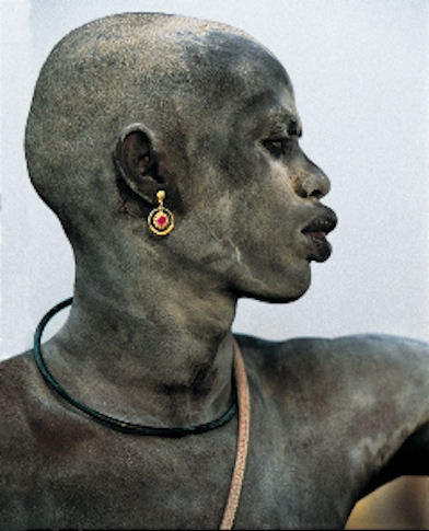 Dinka Man Covered in Ash, South Sudan by Carol Beckwith and Angela Fisher