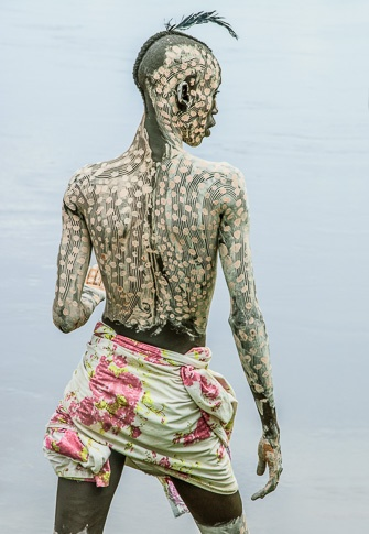Kara Man Painted for Courtship, Omo Valley, Ethiopia by Carol Beckwith and Angela Fisher