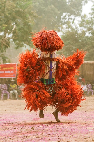 Raffia Harvest Mask, Burkina Faso by Carol Beckwith and Angela Fisher