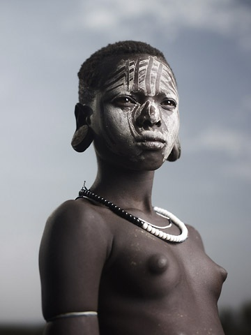 Portrait of Mursi Girl by Joey L.