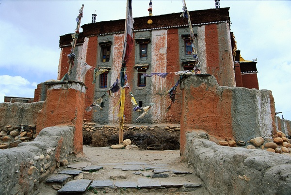 Tsarang Gonpa and Entranceway, Tsarang by Kenneth Parker