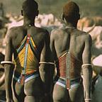 Dinka Herders in Beaded Corsets, South Sudan