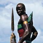 Dinka Warrior with Spear, South Sudan