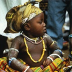 Small Krobo Girl, Sitting
