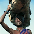 Dinka Woman Carrying Load, South Sudan