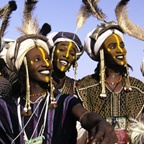 Wodaabe Charm Dancers in Group