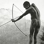 Young boy with arrow