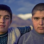 Two seventh graders, Alamut Valley