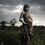 Photograph of Pregnant Hamer Woman