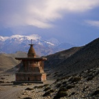 Sumda Chorten and Mountains, Entrance to Tsarang