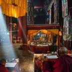 Monks Performing Sand Mandala Ceremony, Thupchen Temple