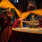 Removal of the Phurbas Prior to Destruction of the Sand Mandala