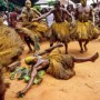 Devotees to Koku Rolling on Cactus, Ouidah, Benin
